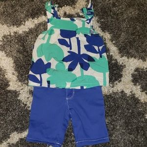 Carter's girl toddler set 3t.